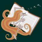 Kazart - Phoebe 'Good Book' Tshirt by Karen Sagovac