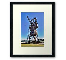 Slipway Crane Framed Print