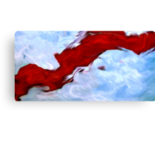 Splashes of Paint Oil Painting 4 Canvas Print