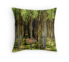 Danger, Keep Away Throw Pillow