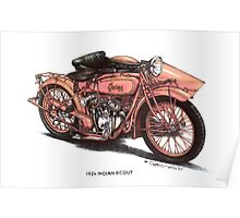 1924 Indian Scout Motorbike Poster