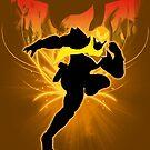 Super Smash Bros. Gold/Yellow Captain Falcon Silhouette by jewlecho