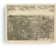 Panoramic Maps 1909 Pawling NY Canvas Print
