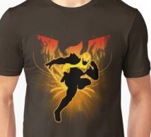 Super Smash Bros. Gold/Yellow Captain Falcon Silhouette Unisex T-Shirt