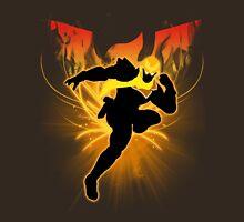 Super Smash Bros. Gold/Yellow Captain Falcon Silhouette Unisex T-Shirt