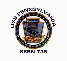 USS Pennsylvania (SSBN-735) Crest Unisex T-Shirt