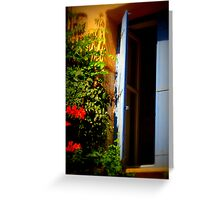 Window to Another World Greeting Card