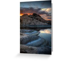 Granite and Sunset Greeting Card
