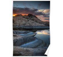 Granite and Sunset Poster