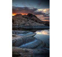 Granite and Sunset Photographic Print