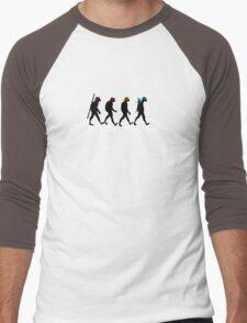 Turtle Road (Black and White) Men's Baseball ¾ T-Shirt