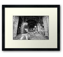 Ghostly Halls Framed Print