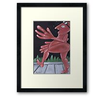 The Jogger Framed Print