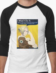 I Won't Do It Men's Baseball ¾ T-Shirt