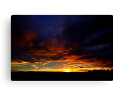 Sunset South Africa KZN Midlands Canvas Print