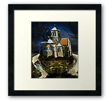 homage to van gogh's L'église d'Auvers-sur-Oise Framed Print