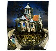 homage to van gogh's L'église d'Auvers-sur-Oise Poster