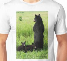 Black Bear Family Unisex T-Shirt