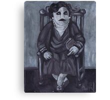 Seated Zombie Lady Canvas Print