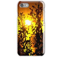 wild atlantic way sunset with flowers iPhone Case/Skin