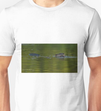 Beaver Eating on the Run Unisex T-Shirt