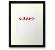 SPLATTERHOUSE Framed Print