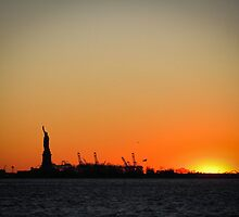 Liberty sunset by Vanessa Caine