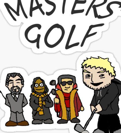 master's golf Sticker
