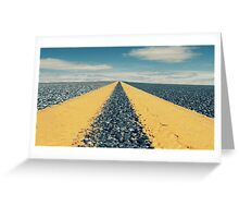 On the road to nowhere Greeting Card