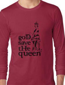 Hot Queen stencil, God save the queen Long Sleeve T-Shirt