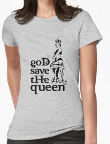 Hot Queen stencil, God save the queen Womens Fitted T-Shirt