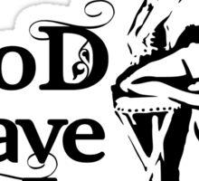 Hot Queen stencil, God save the queen Sticker