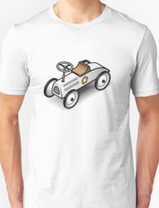 A retro vintage race cart. WIth drop shadow for a white shirt only. T-Shirt