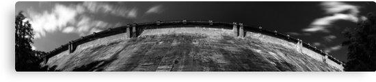 Maroondah Dam Wall Panorama by Andrejs Jaudzems