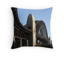 Sydney Harbour Bridge - to the west Throw Pillow