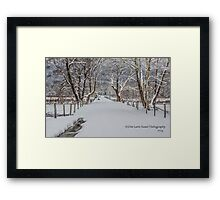 Sparks Lane in the Snow Framed Print