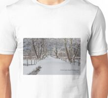 Sparks Lane in the Snow Unisex T-Shirt