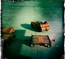 Airport Trolleys by Mark Higgins