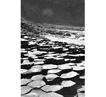 Giants Causeway in B&W Photographic Print
