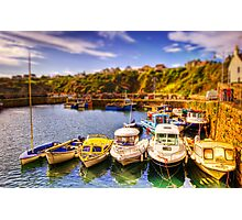 Crail Harbour (HDR Tilt Shift) Photographic Print