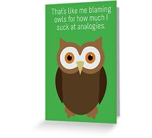 "Community: ""Analogies"" Greeting Card"