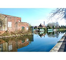 CANAL MIRROR IMAGES. 2. LEIGH UK. Photographic Print