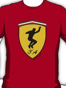 Fernando Alonso Celebration (Black Writing) T-Shirt