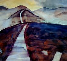 there are only two escapes - painting and travel by Claudia Dingle
