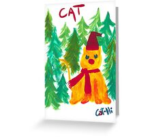 Christmas Tree Lot Cat Greeting Card