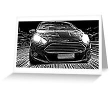 Ford Fiesta Manga Greeting Card