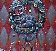 Alice Cheshire Cat Christmas by illustore