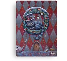 Alice Cheshire Cat Christmas Canvas Print
