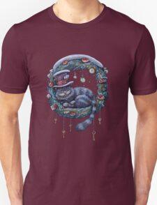 Alice Cheshire Cat Christmas Unisex T-Shirt