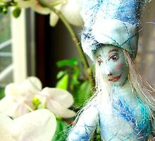 Blue flower doll by Lilaviolet